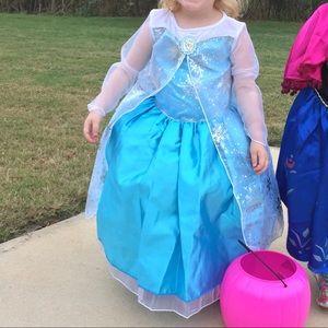 GIRLS 4T Frozen Elsa Dress Disney Costume